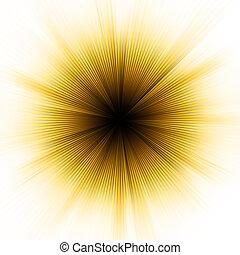 złoty, 8, wybuch, light., eps