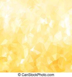 złoty, abstrakcyjny, wielobok, struktura