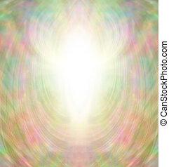 złoty, anioł, aura, tło
