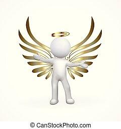 złoty, anioł