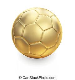 złoty, biały, piłka do gry w nogę
