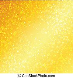 złoty, bokeh, luksus, tło, defocused