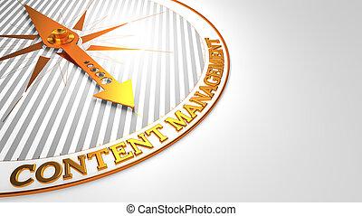 złoty, compass., kierownictwo, biały, zadowolenie