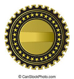 złoty, etykieta