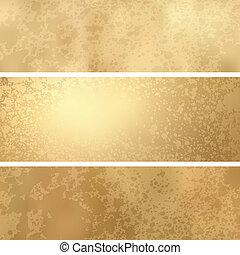 złoty, grunge, tło, z, przestrzeń, dla, text., eps, 8