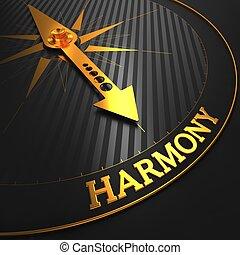 złoty, harmonia, compass.