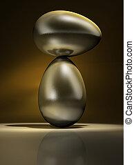 złoty, jaja, równowaga