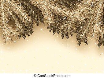 złoty, kartka na boże narodzenie, powitanie
