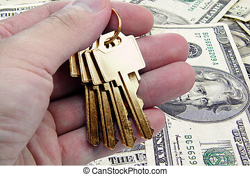 złoty, klucz, powodzenie