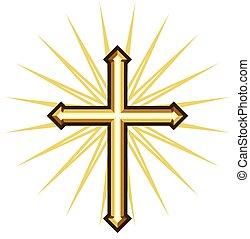 złoty, krzyż
