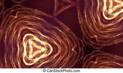 złoty, looped, abstrakcyjny, rok, kształt, iskry, seamless, ...