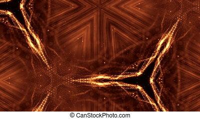 złoty, looped, abstrakcyjny, rok, kształt, iskry, seamless,...