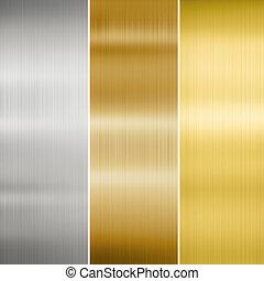 złoty, metal, brąz, srebro, texture: