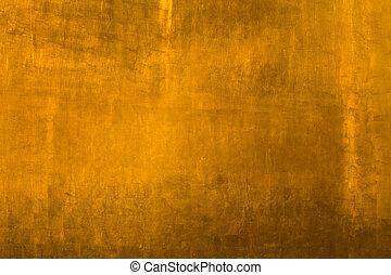 złoty, metal, tło