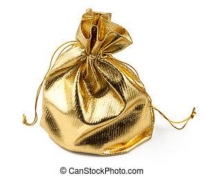 złoty, niespodzianka, torba daru