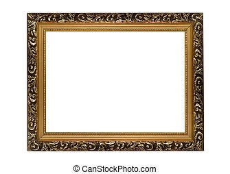 złoty, obraz budowa, portret, poziomy, albo