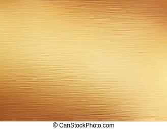 złoty, oczyszczony szczotką