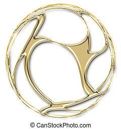 złoty, piłka