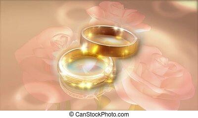złoty, poślubne bandy