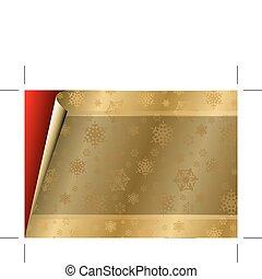 złoty, próbka, /, papier, kartka na boże narodzenie