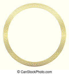 złoty, próbka, starożytny, okrągły, ułożyć, projektować, meandry