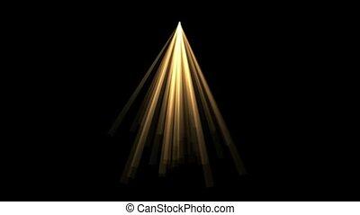złoty, promień, lekki, światło słoneczne