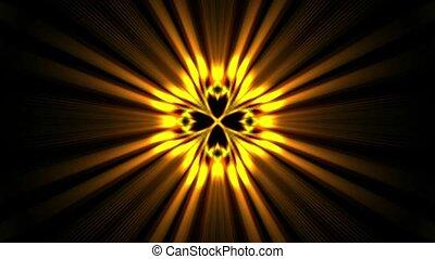 złoty, promienie, laser, moc, energia, space., pole