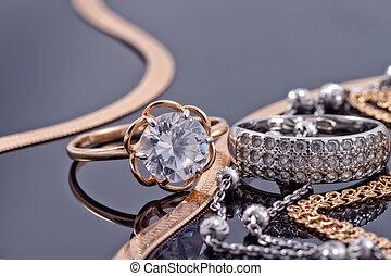 złoty, srebro, dzwoni, i, więzy