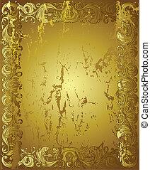 złoty, tło