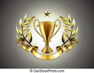 złoty, trofeum