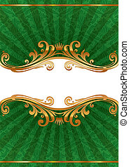 złoty, ułożyć, llustration, wektor, luksus, ozdobny
