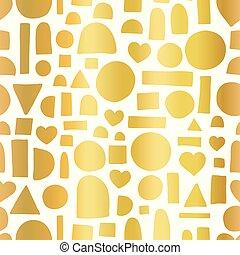 złoty, złoty, abstrakcyjna forma, koło, chorągiew, serce, doodle, pattern., seamless, tło., cyfrowy, pociągnięty, geometryczny, prostokąt, ręka, folia, pół, biały, wielki, dzieciaki, dar, papier, modeluje, wektor, zarzutka