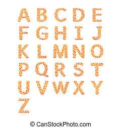 z, alfabet, witte bloem, vrijstaand