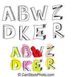 z, e, d, brieven, b, w, een, k, r