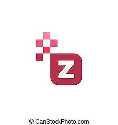 Z Font Vector Template Design
