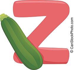 Z for Zucchini Illustration - Illustration of Vegetables...