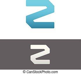 Z Letter Alphabet Abstract vector text logo