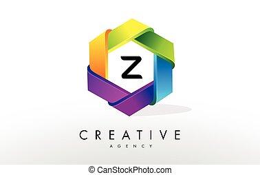 Z Letter Logo. Corporate Hexagon Design