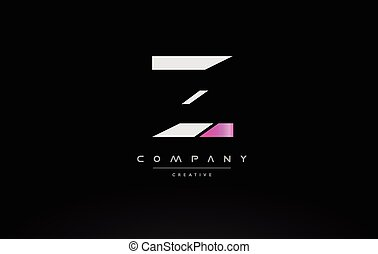 z pink black white creative modern letter logo icon design vector