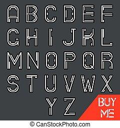 z, simples, alfabeto, abstratos, geek, hipster, retro, linha, fonte, símbolo, mínimo, ícone