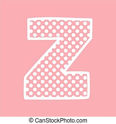 Z vector alphabet letter with dots