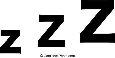 z-z-z, zzz, sueño