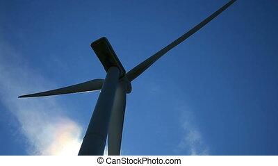zaświecić, szczelnie-do góry, wstecz, wiatr turbina