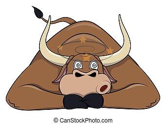 zażenowany, byk
