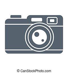 za, kamera, vektor, ikona