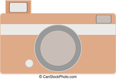 za, kamera., vektor, ilustrace
