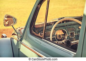 za, módní, detail, vůz, klasik