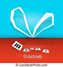 za, vektor, merry christmas, grafické pozadí, -, oplzlý i kdy červené šaty