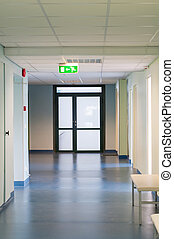 zaal, in, ziekenhuis