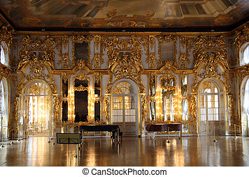 zaal, paleis, interieur, in, pushkin